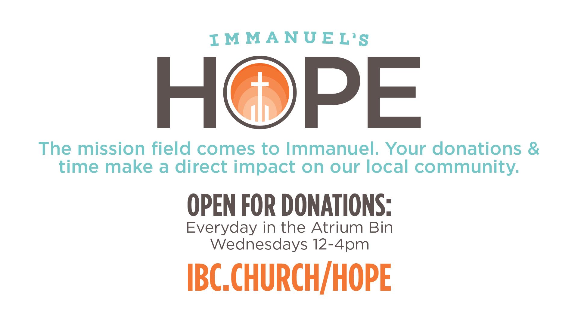 Immanuel's Hope